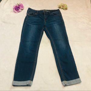 Women wax jeans